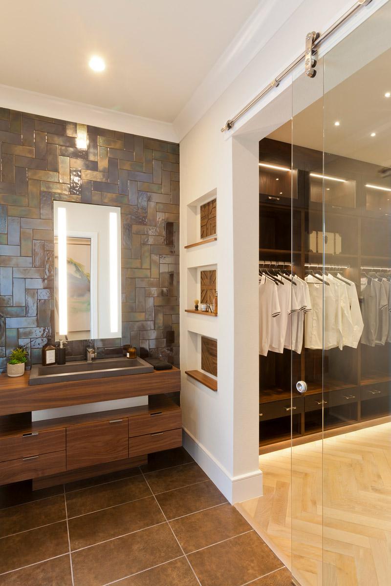 korina his master bathroom closet