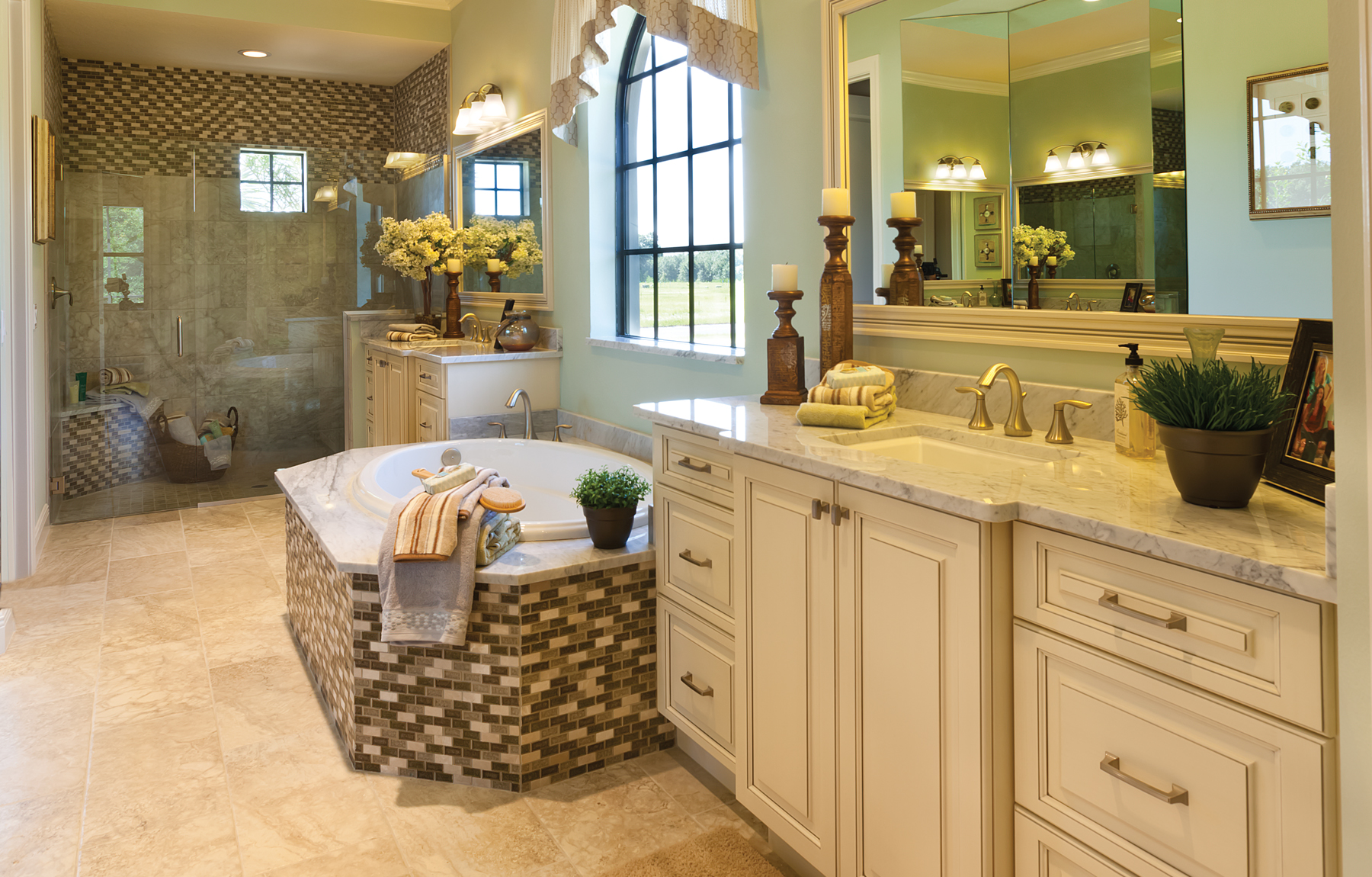 The Caaren John Cannon Homes master bath