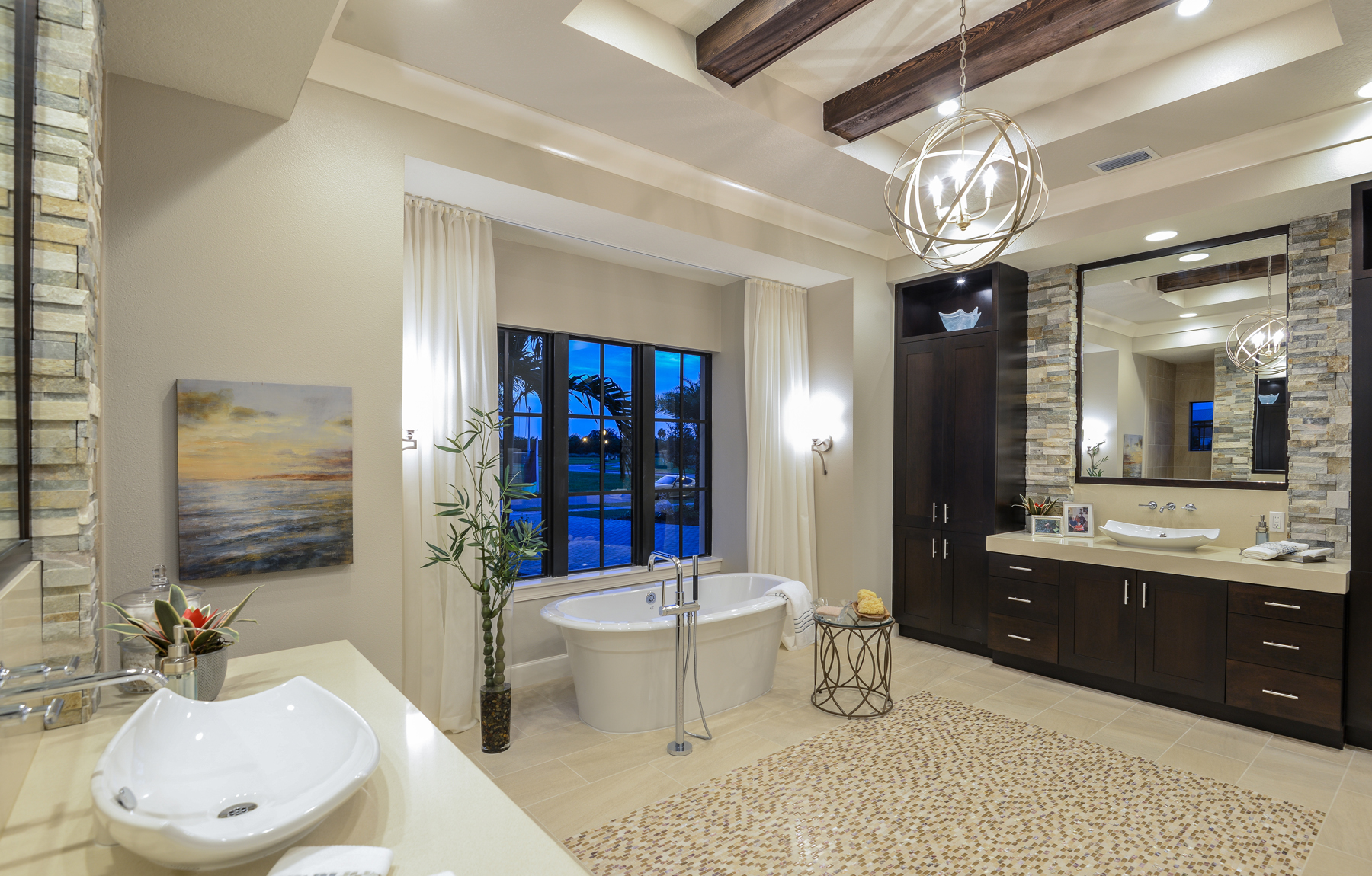 The Mindera John Cannon Homes master bath
